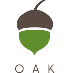 Oak tree acorn icon vector