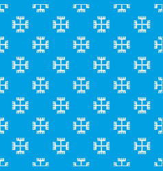 pagan ancient symbol pattern seamless blue vector image