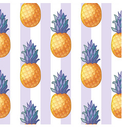 pineapple cute pattern vector image