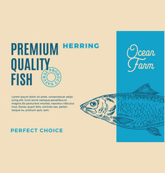 Premium quality herring abstract fish vector