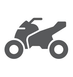 Quadbike glyph icon bike and extreme atv vector