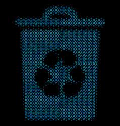 recycle bin mosaic icon of halftone spheres vector image