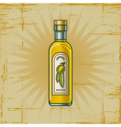Retro Olive Oil Bottle vector image