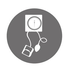 Round icon blood plessure apparatus vector
