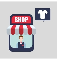 Sales and retail design shopping icon white vector