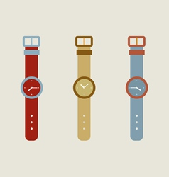 Set Of Wristwatch vector