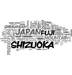 Shizuoka word cloud concept vector
