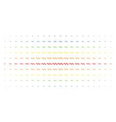 Sinusoid wave spectrum halftone pattern vector