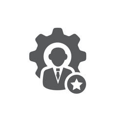 Skills icon on white background vector