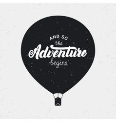 So the adventure begins card hand written vector
