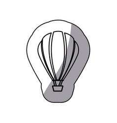 Sticker sketch contour hot air balloon icon vector