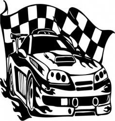 Street racing cars vector
