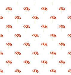 striped beach umbrella pattern vector image