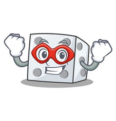 Super hero dice character cartoon style vector