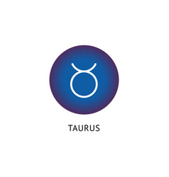 taurus zodiac icon on blue tag horoscope symbol vector image
