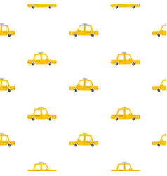 taxi cars pattern vector image