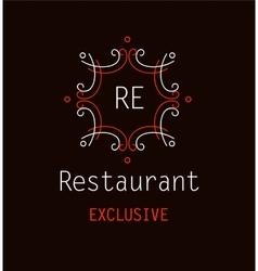 Template logo for the restaurant monogram vector