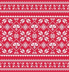 Ukrainian Slavic folk art white embroidery vector