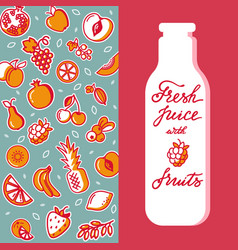 vertical pattern of fruit for design of vector image