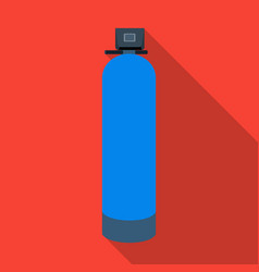 Water filter machine icon in flate style isolated vector