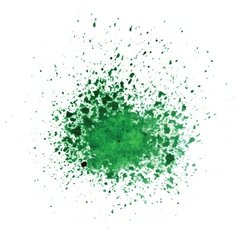 Watercolor green blot vector
