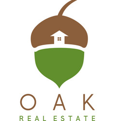 acorn and house icon real estate concep vector image vector image