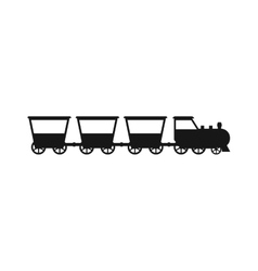 black silhouettes of trains vector image