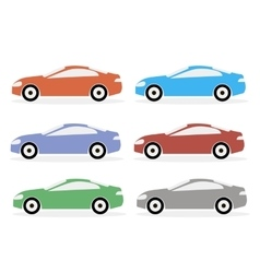 Colorful Icon Cars vector image