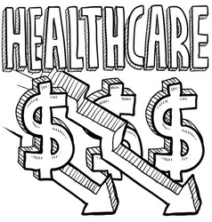 Healthcare costs decrease vector image vector image