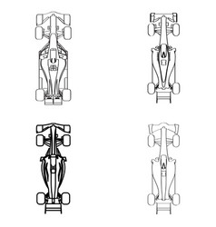 Set of racing cars vector