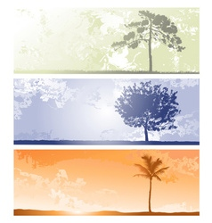 Tree Background Sets vector image vector image