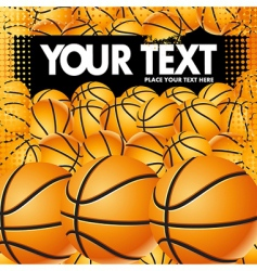 vector basketball background vector image vector image