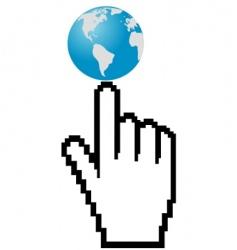world it is internet vector image