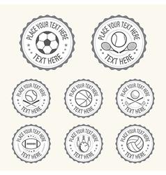 Badge Sports badge football golf tennis basketball vector image