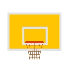 Basketball hoop sport basket game play competition vector image