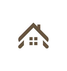 house roof shape company logo vector image