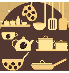set of kitchen appliances vector image vector image