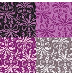 Decorative seamless floral background vector image vector image