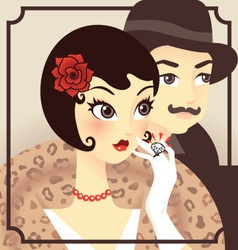 Flapper couple vector image