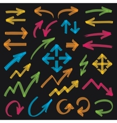 Highlighter Arrows Design Elements vector image