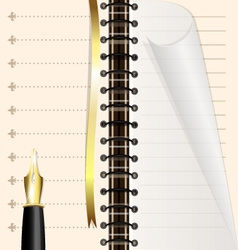 page notebook vector image vector image