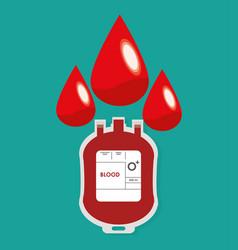 plastic bag blood drop design vector image
