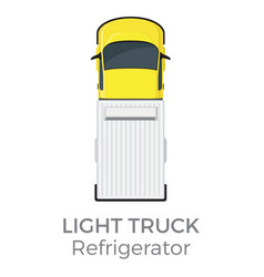 refrigerator light truck top view flat icon vector image vector image