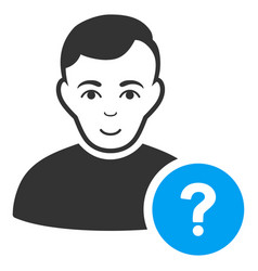user question icon vector image vector image