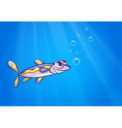 A fish under the sea vector image vector image