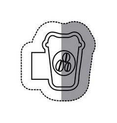 figure emblem coffee espresso icon vector image