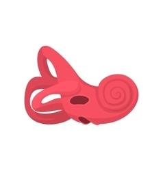 Inner ear cartoon icon vector image