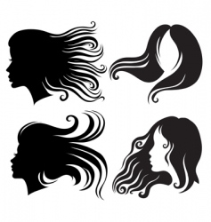 silhouettes of woman vector image vector image