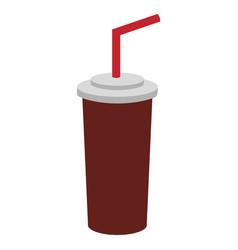 soda beverage in the cinema movie scene vector image vector image