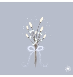 Sweet cartoon winter bouquette with white flowers vector image vector image